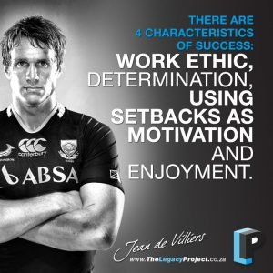 Jean De Villiers South African Rugby Player And Captain Successness