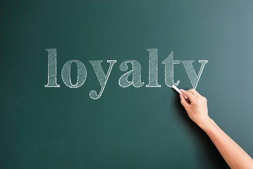 loyalty written on blackboard