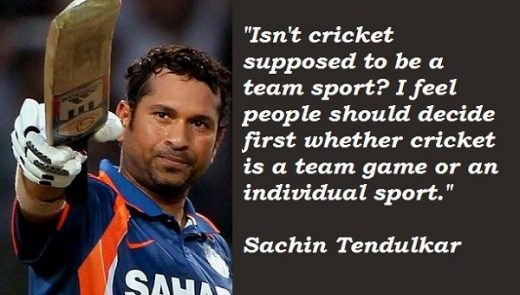 Quotes From Sachin Tendulkar